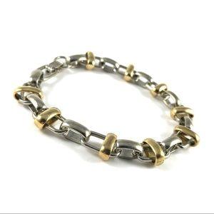 Gorgeous Vintage Silver & Gold Tone Link Bracelet